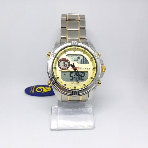 Relógio Atlantis Masculino Todo Funcional G3446