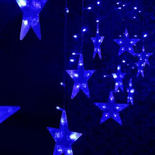 Led Estrellas De Navidad Colgante De La Cortina De Luces De