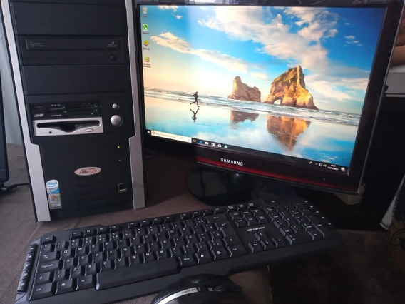 Computador Pc Megaware Completo , Monitor Sansung 17 Top!