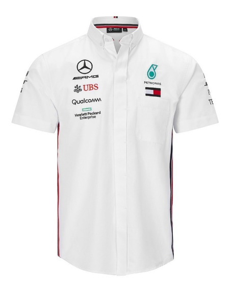 Camisa Vestir Mercedes Petronas Bordada **nueva Linea 2019**