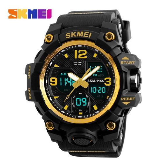 Relógio Skmei 1155 Dourado Original A Prova D