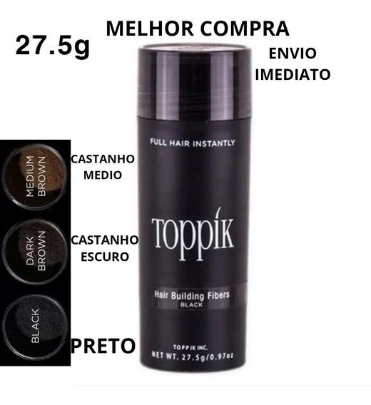 Toppik Hair 27.5g Maquiagem Para Calvicé Castanho Escuro
