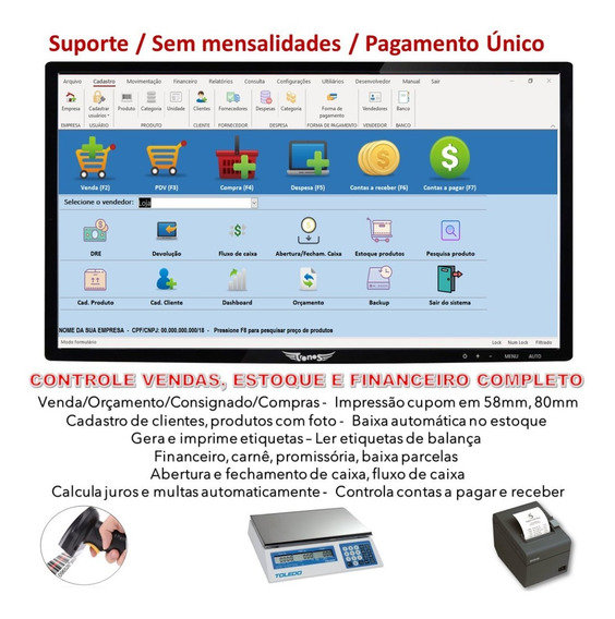 Sistema Pdv, Controle Estoque, Abertura E Fechamento Caixa