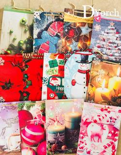 Bolsa De Regalo Navidad Con 10 Surtido Mediana