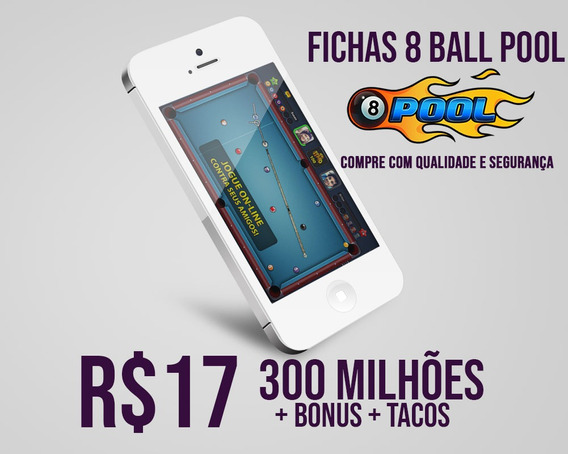 8 Ball Pool Fichas 300 Milhões + Super Brinde