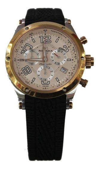 Reloj Nivada Moonmaster Ng30051gbira Chrono Negro Caballero