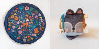 Playmat Manta Acolchonada Alfombra + Cubo Sensorial Texturas