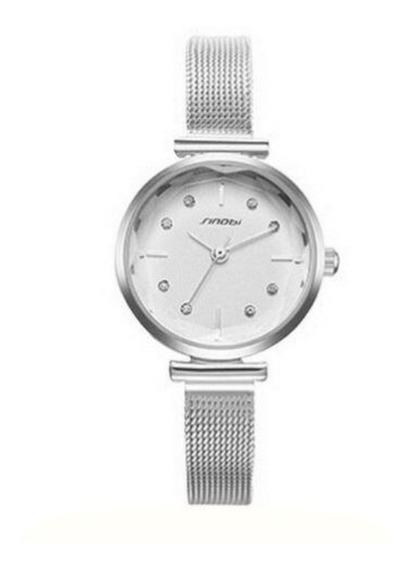 Relógio Feminino Mostrador Pequeno 3atm - Prata