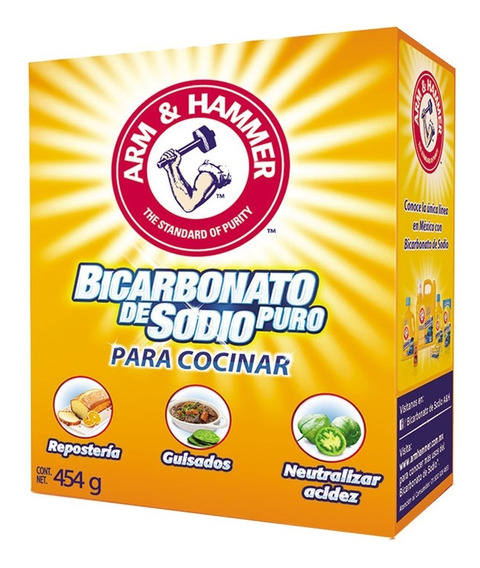 Bicarbonato De Sodio Puro Para Cocinar 454g Arm & Hammer
