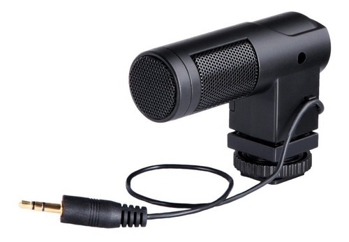 Imagen 1 de 10 de Microfono Stereo Dsrl Video Byv01 Canon Nikon Sony Panasonic