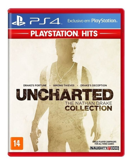 Jogo Uncharted The Nathan Drake Collection Mídia Física Ps4