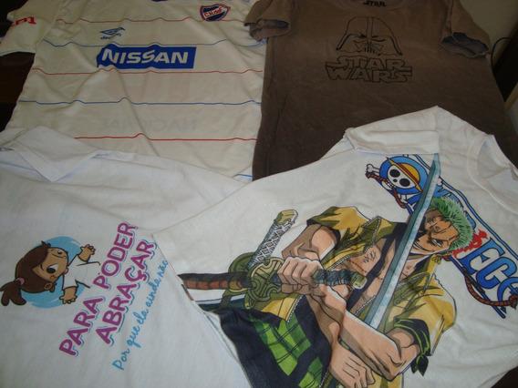Lote 4 Camisetas Menino - 10 Anos - Estado De Novas