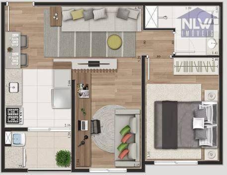 Apartamento Com 1 Dormitório À Venda, 39 M² Por R$ 199.900,00 - Padroeira - Osasco/sp - Ap3292