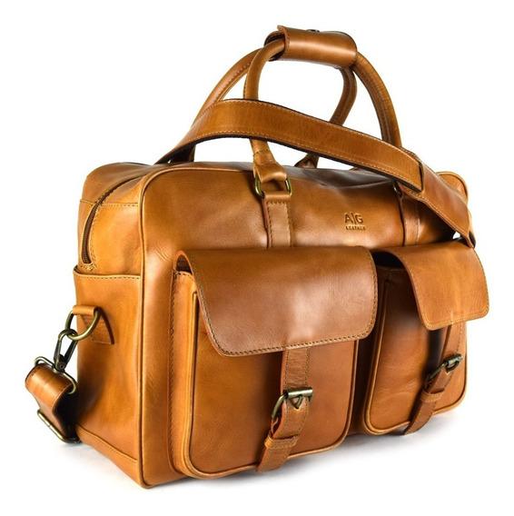 Maleta Overnight En Piel 100% Genuina Para Cabina Ag Leather