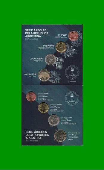 Monedas Argentinas - Serie Arboles Blister De 4 Monedas.-