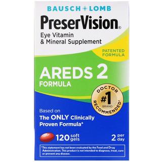 Preservision Areds 2 Formula - Bausch + Lomb - 120 Cápsulas