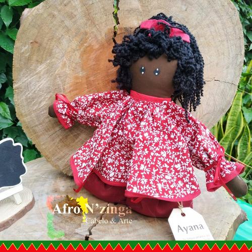 Boneca Negra De Pano - Ayana