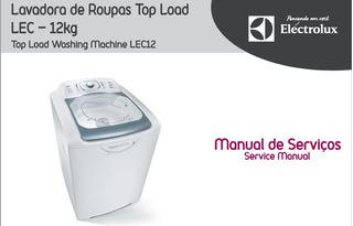 Manual Serviço Lavadora Electrolux Lec12 Top Load Pdf