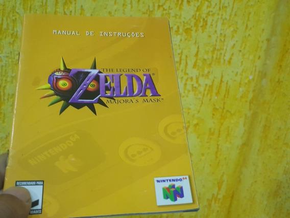 Manual The Legend Of Zelda Majoras Mask Nintendo 64 Portugue