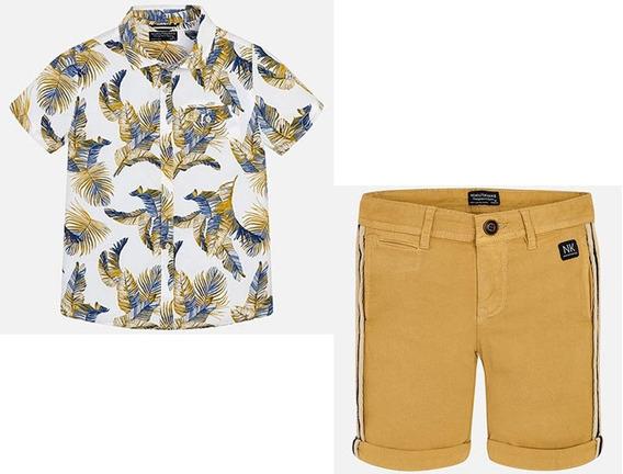 Mayoral Conjunto Camisa Y Bermudas Para Niño 6129 #8 Años B