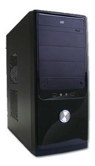 Cpu Torre Ddr3 Processador Core2duo 4gb Hd500gb Gravador Dvd