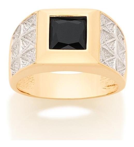 Anel Rommanel Cristal B. A Ouro Trabalhada Em Rhodium 512800