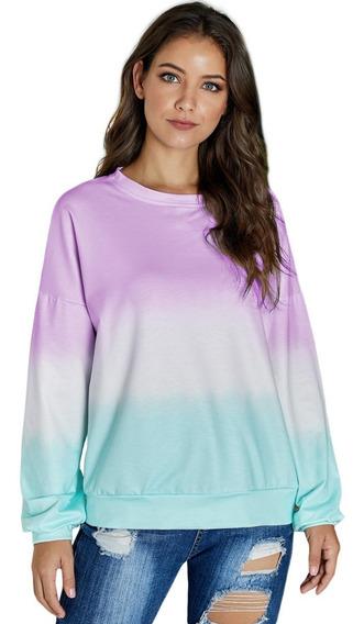 Outwear Sudadera Ligera Multicolor Hippie Retro Lila
