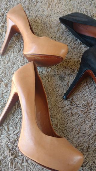 Dois Sapatos Schultz 38 Couro