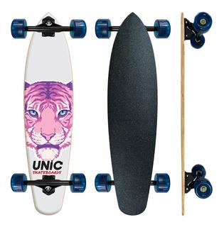 Skate Longboard Feminino Barato Unic Tigre Rosa