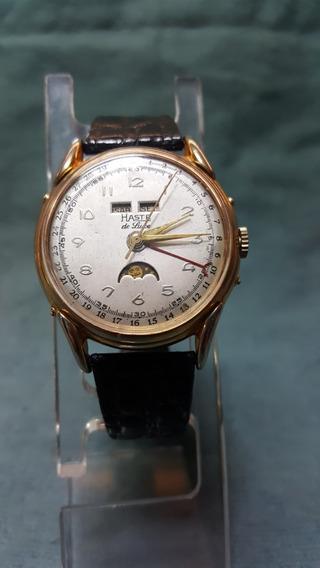 Reloj Haste Vintage De Luxe Face Lunar, Calendario-fechador