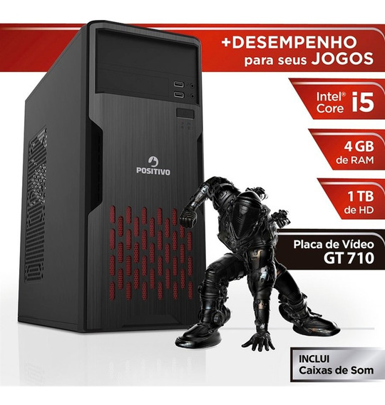 Pc Gamer Positivo Station 41tbgi Core I5 4gb (geforce Gt710