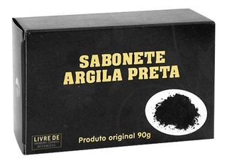 Kit 24 Sabonete Glicerinado De Argila Preta Tropical