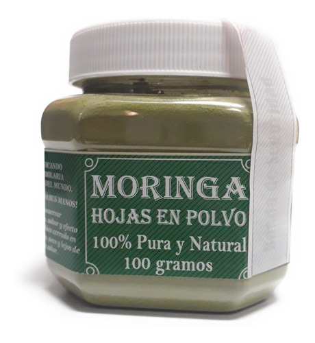 Hojas De Moringa En Polvo 100% Pura Y Natural 100g Full
