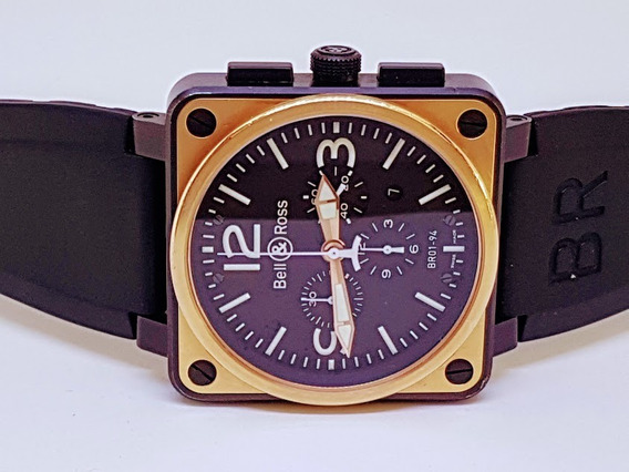 Beel And Ross Br 01 -94 Ouro Amarelo 46 Mm.