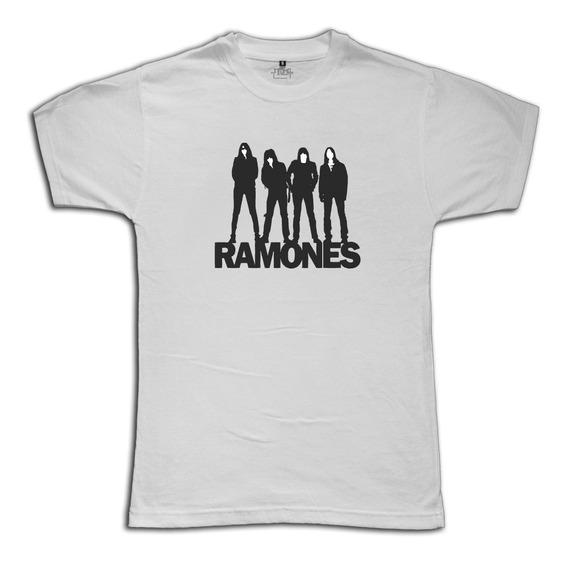 Remeras Ramones Joey Deedee Johnny Tommy Mujer Hombre