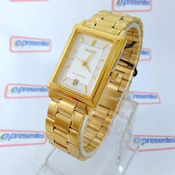 Funax001w0 Relógio Orient Dourado Unissex 28mm Mov. Quartz