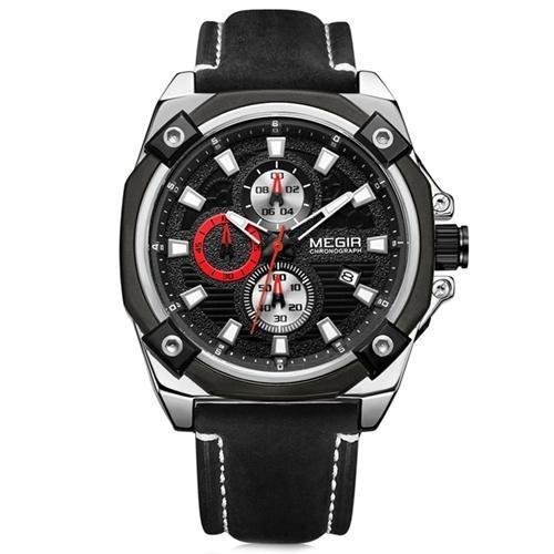 Relógio Megir Racing 2054 - Pulseira Couro