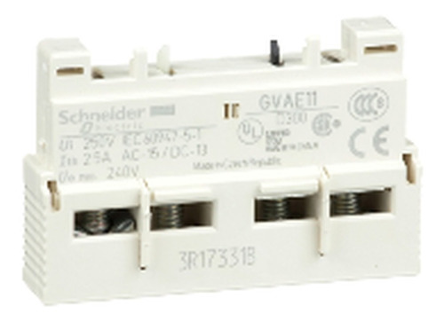 Contato Auxiliar Instantaneo Frontal 1na+1nf Gv2-gv3; Gvae11