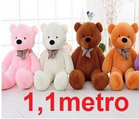 Urso Gigante De Pelucia Teddy Bear 1 Metro Cheio 110cm