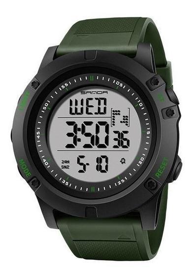 Relógio Masculino Sanda Digital Esportivo Feito Em Resina