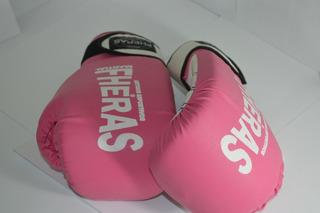 Luva De Boxe Feminina Cor Rosa Fheras Velcro P Super Promoção