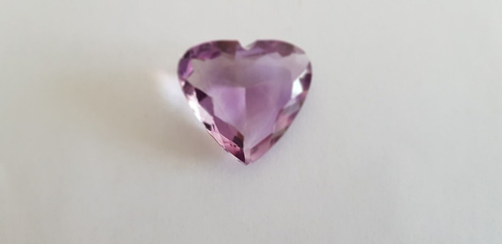 Pedra Preciosa Natural Ametista 37,3 Quilates Forma Coração