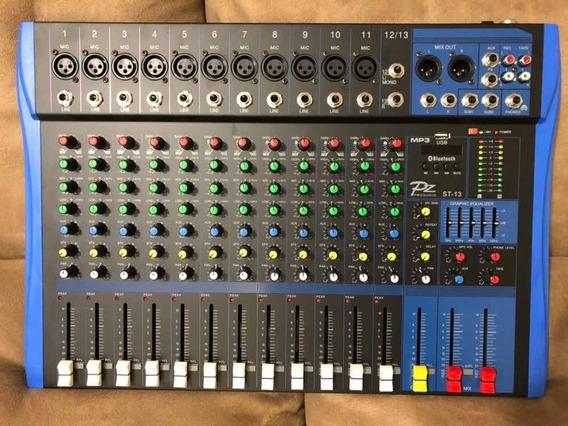 Mesa De Som Pz Pro Audio Pt-13 Com Usb+bluetooth Nova