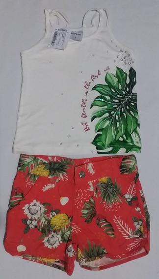 Conjunto Blusa Com Short Rovitex Kids Feminino - 2 Anos