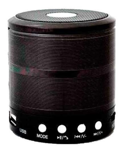Mini Caixa De Som Bluetooth Pc/notebook/celular Ws-887 Preta