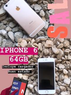 Celular iPhone 6 64 Gb Usado Con Cargado Liberado