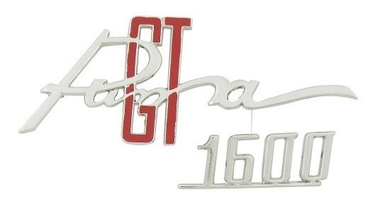 Emblema Metal Cromado Painel Porta Luvas Puma Gt 1600