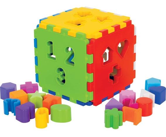 Brinquedo Educativo Encaixe Bebê Cubo Didático Vira Tapete