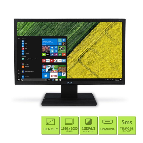 Monitor Led 21.5 Acer Full Hd Vga Hdmi - V226hql