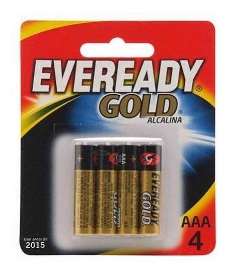 Kit 8 Un Pilha Eveready Gold Alcalina Palito Aaa